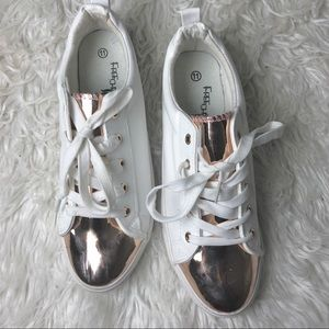 Shoes - Rose Gold Sneakers ( NEVER WORN)